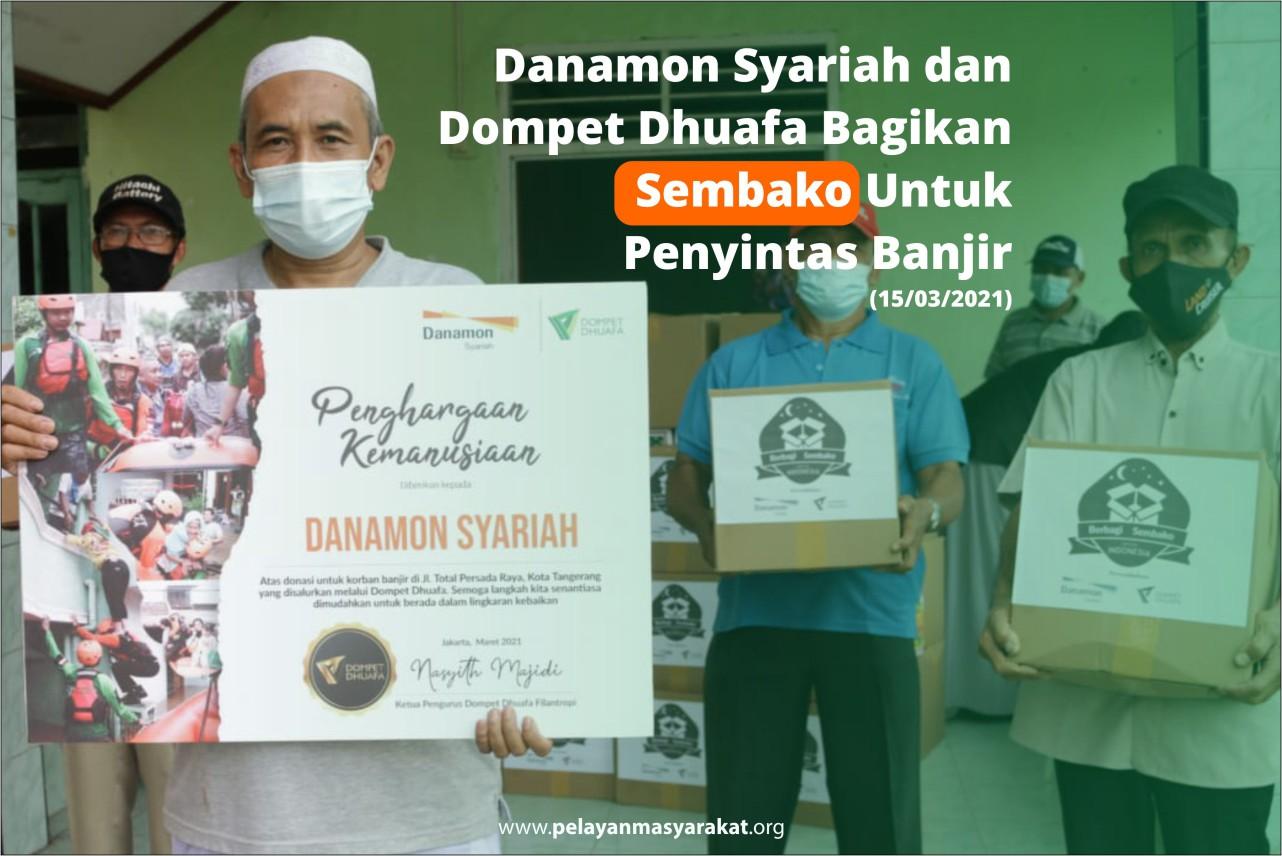Peduli Korban Banjir di Tangerang, Bank Danamon Syariah ...